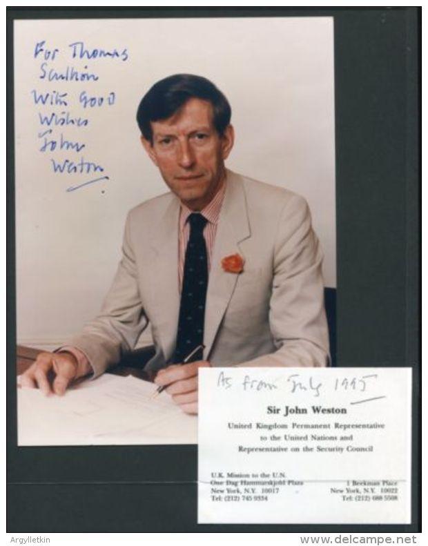 UNITED NATIONS SIGNATURE BRITISH PERMANENT REPRESETATIVE 1995 - Autographs