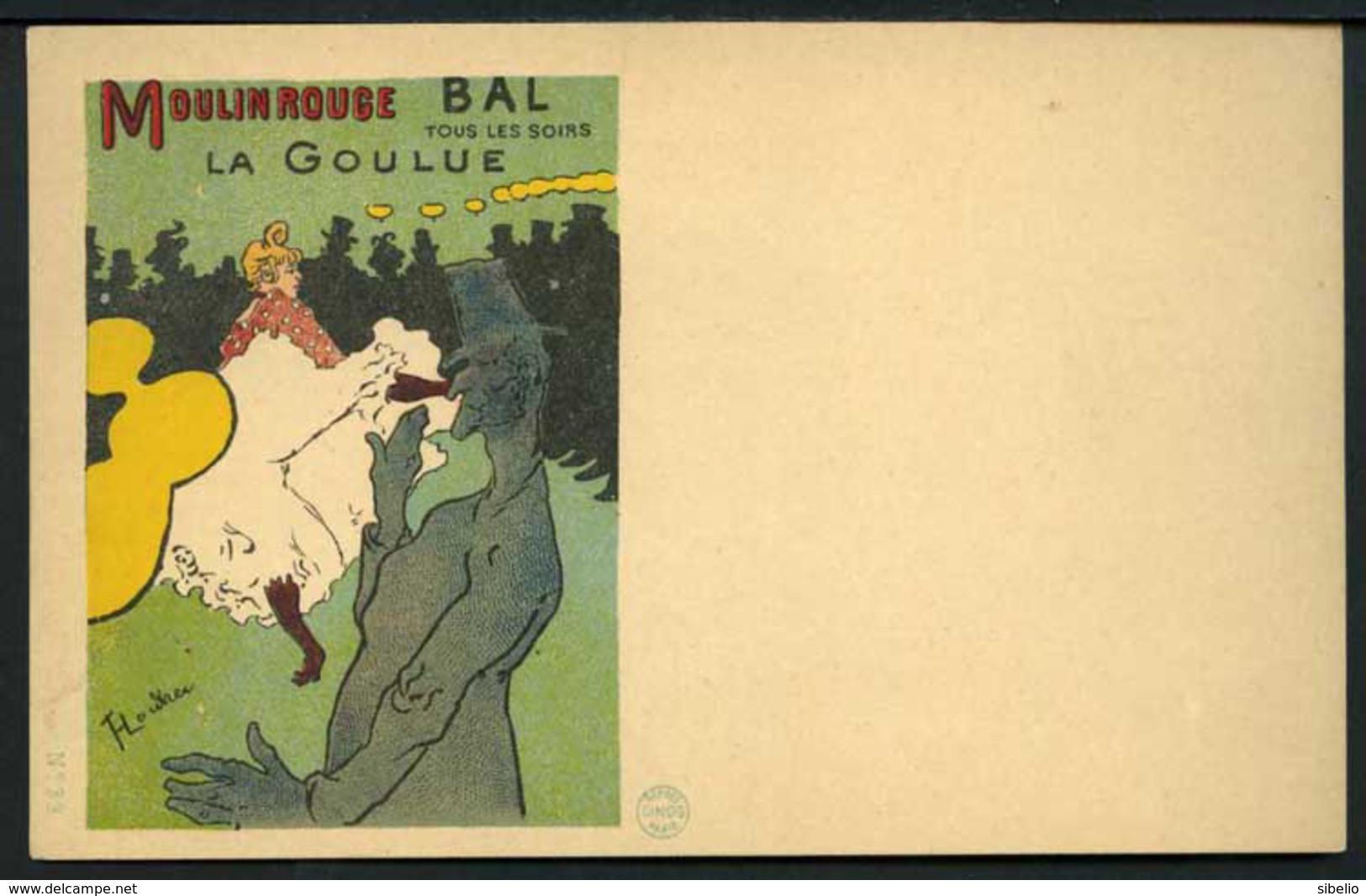 Toulouse Lautrec - Moulin Rouge - La Goulue - CINOS N° 33 - Non Viaggiata 1898/1900 - Rif. 16324 - Altre Illustrazioni