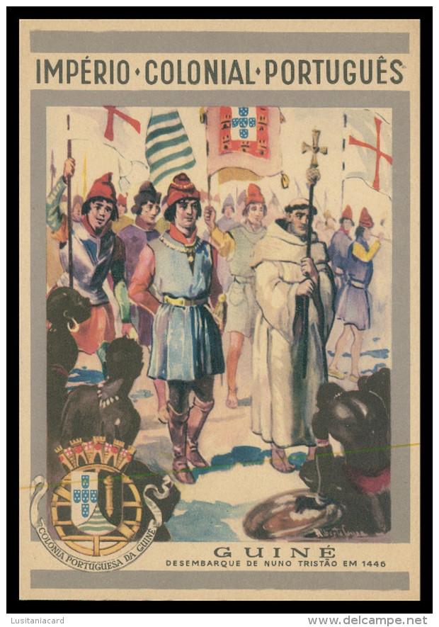 GUINÉ-BISSAU- Imperio Colonial Português - Desembarque De Nuno Tristão 1446  Carte Postale - Guinea-Bissau