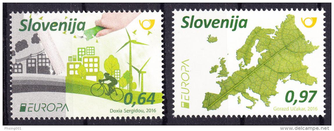 Slovenia 2016 Europa CEPT, Think GREEN, Environment, Bicycle, Set MNH - 2016