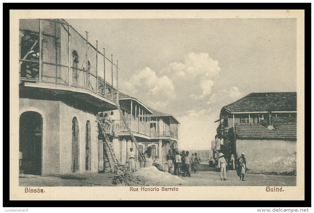 BISSAU -  Rua Honorio Barreto  Carte Postale - Guinea-Bissau