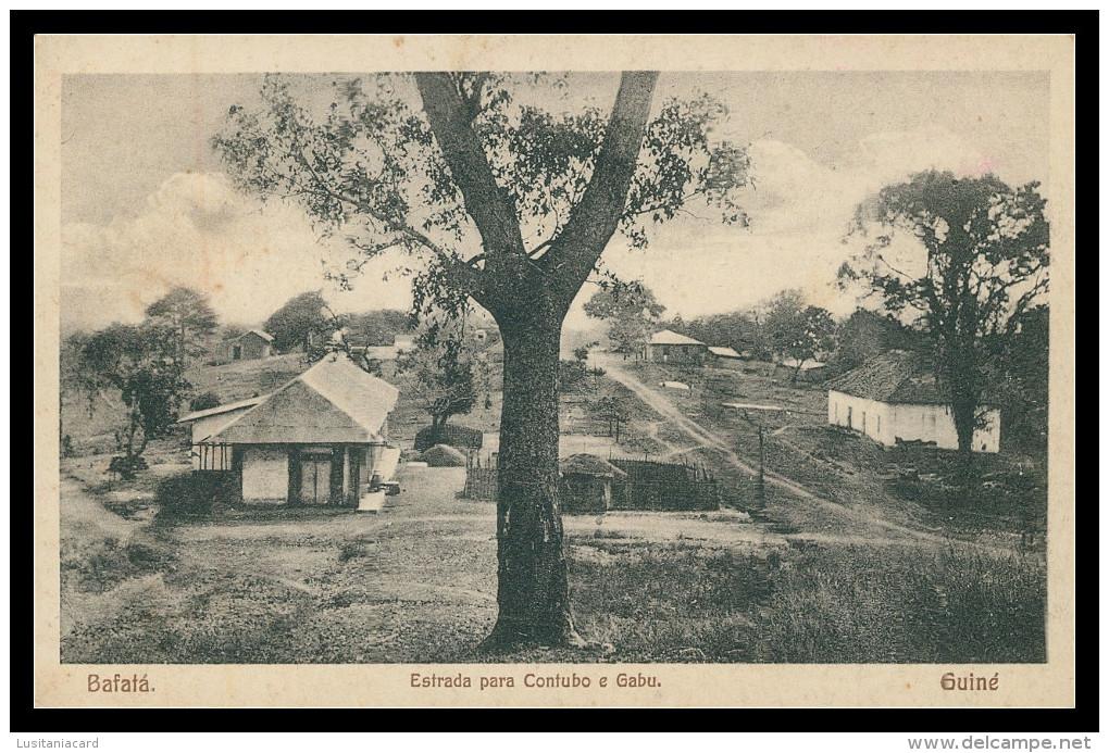 BAFATÁ - Estrada Para Contubo E Gabu  Carte Postale - Guinea-Bissau