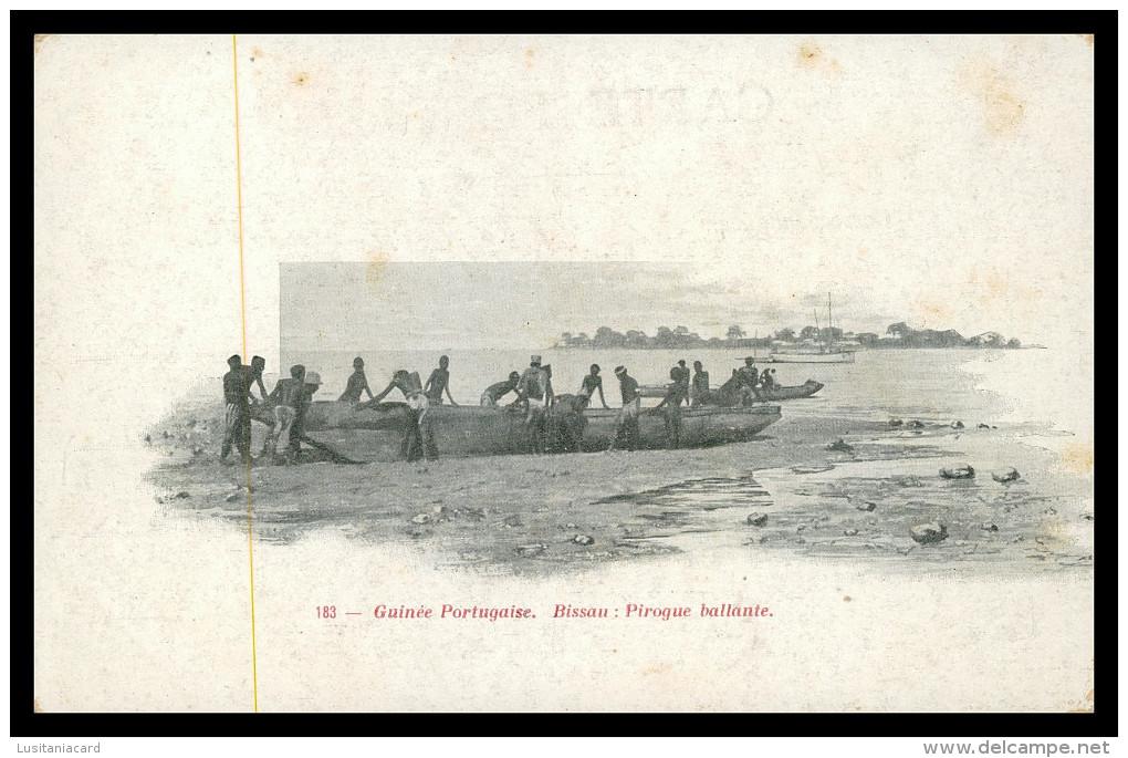 GUINÉ-BISSAU - Pirogue Ballante ( Ed. Rodez Nº 183) Carte Postale - Guinea-Bissau