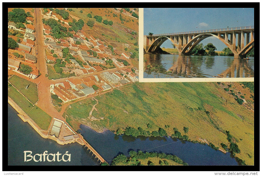 BAFATÁ - Ponte E Vista Aérea Parcial De Bafatá ( Ed. Foto Serra Nº 106)  Carte Postale - Guinea-Bissau