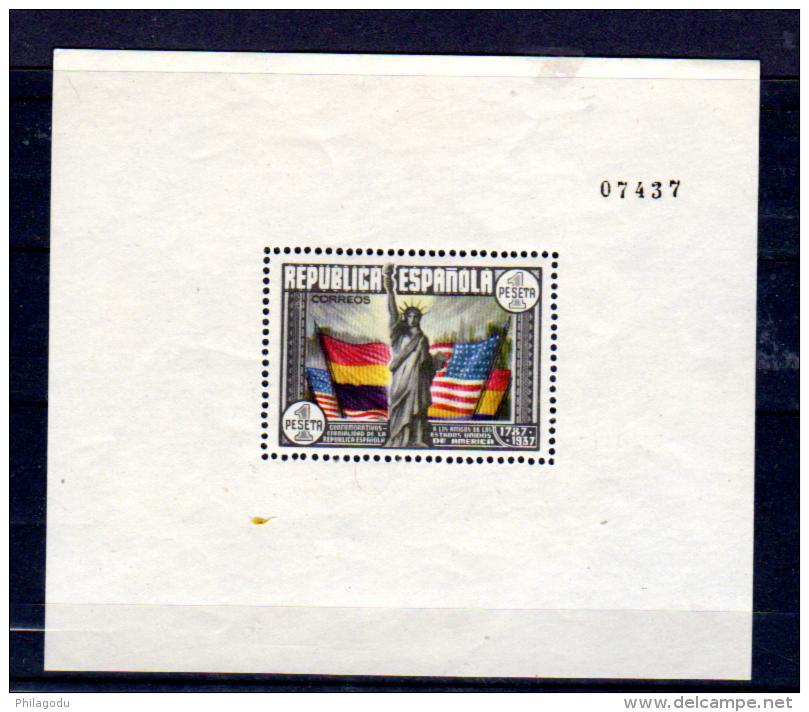 Constitution Des Etats Unis, BF 8**, Cote 60 €, - Blocs & Feuillets