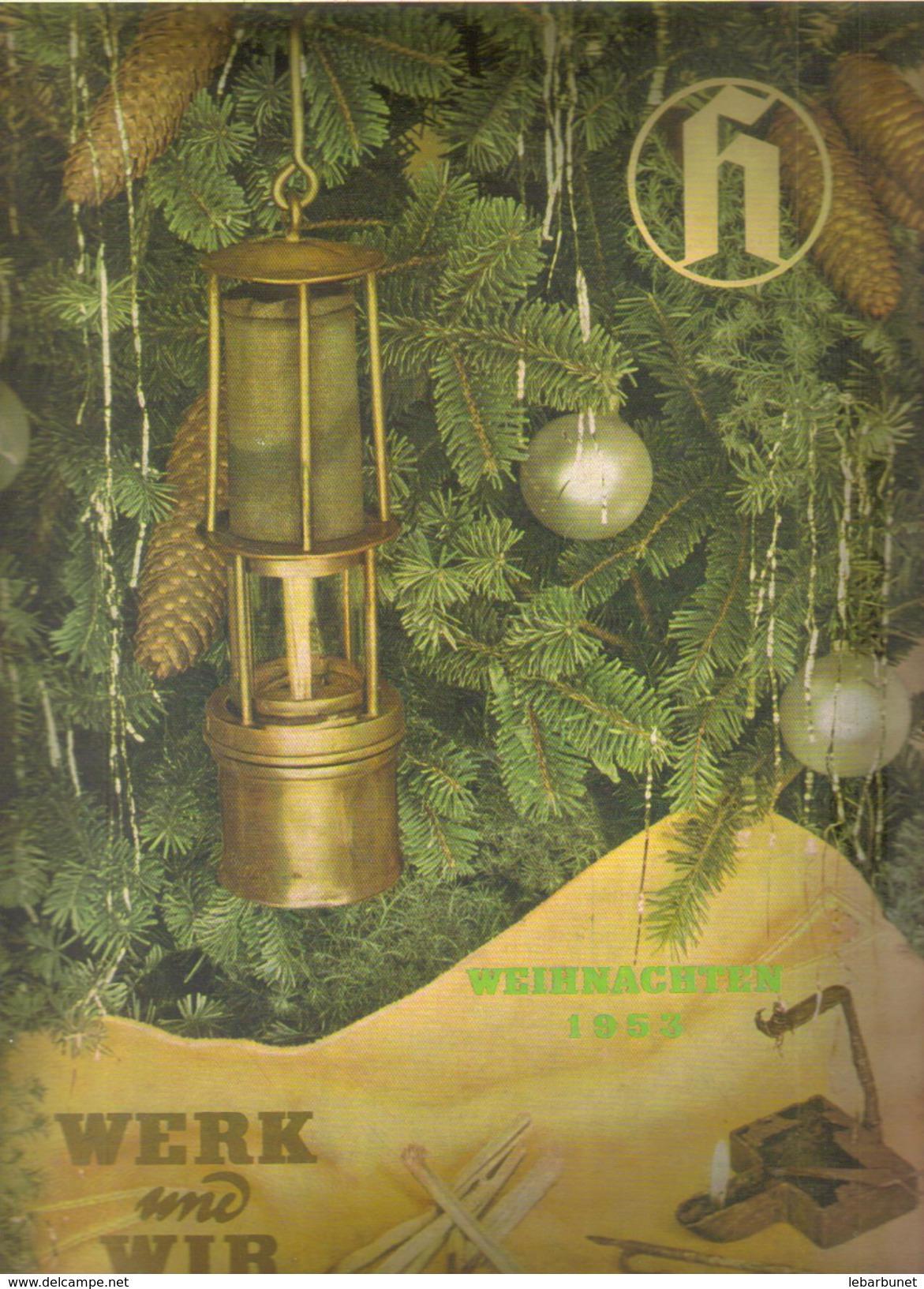 Revue Ancienne 1953 Werk Und Wir     Weihnachten 1953 - Revues & Journaux