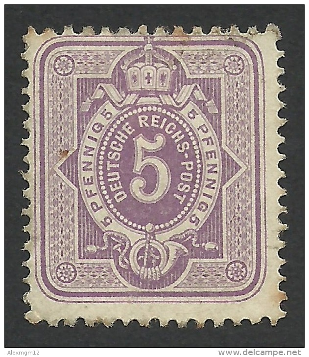 Germany, 5 Pf. 1880, Sc # 38, Mi # 40, Used. - Allemagne