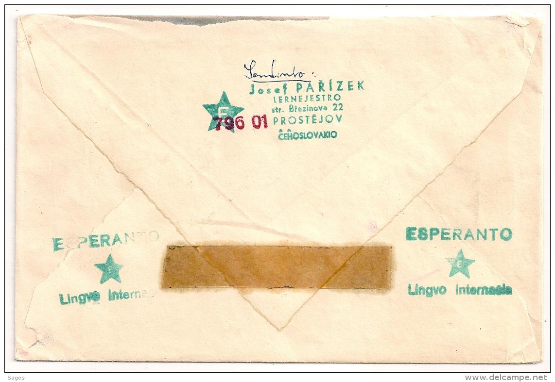 ESPERANTO COVER CESKOLOSVENSKO TCHECOLOVAQUIA TO SWEDEN. Lot 2 - Esperanto