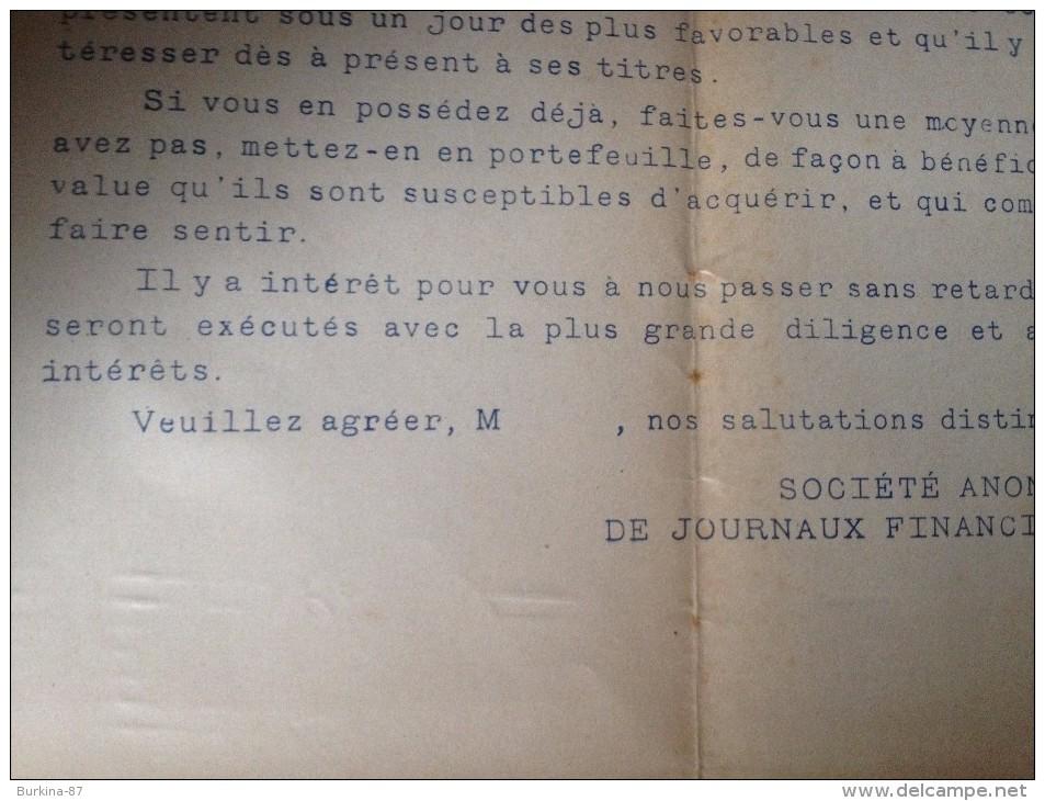 CENTRALE ELECTRIQUE DU NORD,  Lettre Et Bulletin D'achat, 1910, - Electricité & Gaz
