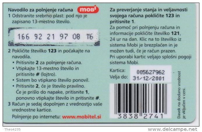 SLOVENIA PHONECARD MOBITEL/BIRDS(roller)-2500 Units - 12/01-USED(thick Plastic)/bx1 - Slovénie