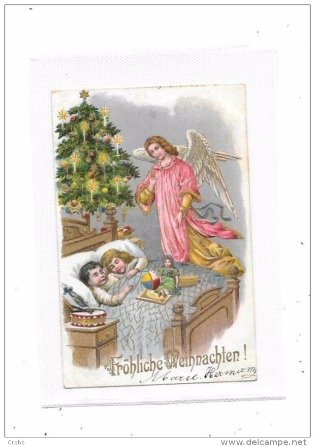 9381 - CPA  Allemande : NOEL, Enfants, Jouets, Anges, - Noël