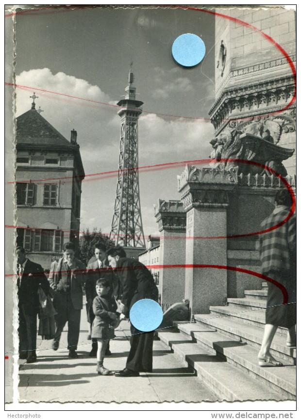 Lyon Fourvière La Tour Metallique Emetteur De Tv Television Vers 1960  69 - Places