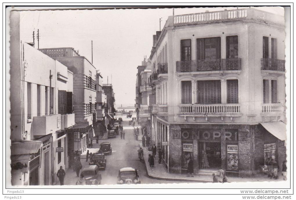 Au Plus Rapide Sousse Rue Villedon Citroën Traction Avant Magasin Monoprix CPSM Petit Format - Tunisie
