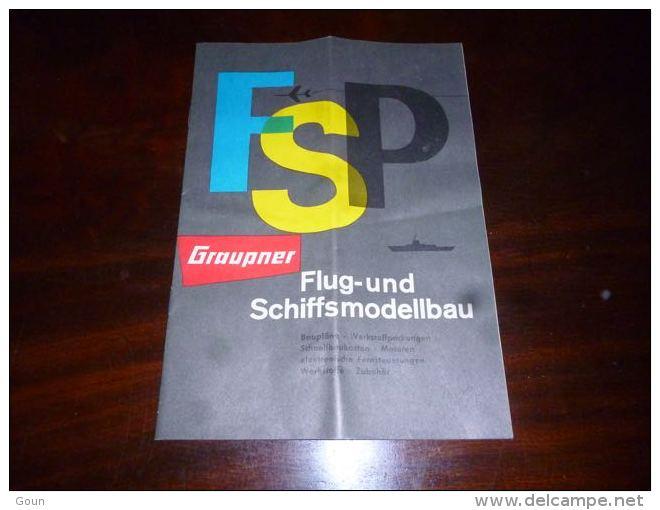 AA1-18 Modélisme Ancienne Revue Publicitaire FSP Graupner Fluf Und Schiffsmodellbau Aviaon Bateau Train - Littérature & DVD