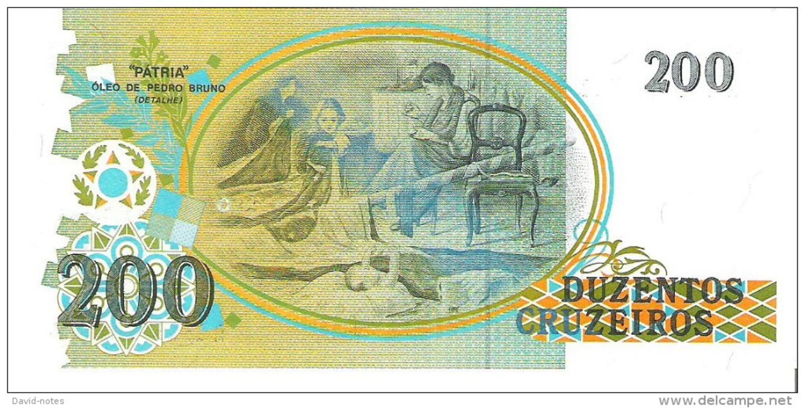 Brazil - Pick 229 - 200 Cruzeiros 1990 - Unc - Brésil