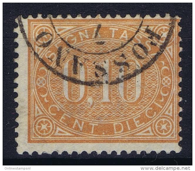 Italy: Segnatasse 1869 Sa 2  MI Nr 26 Used Obl. - 1900-44 Vittorio Emanuele III