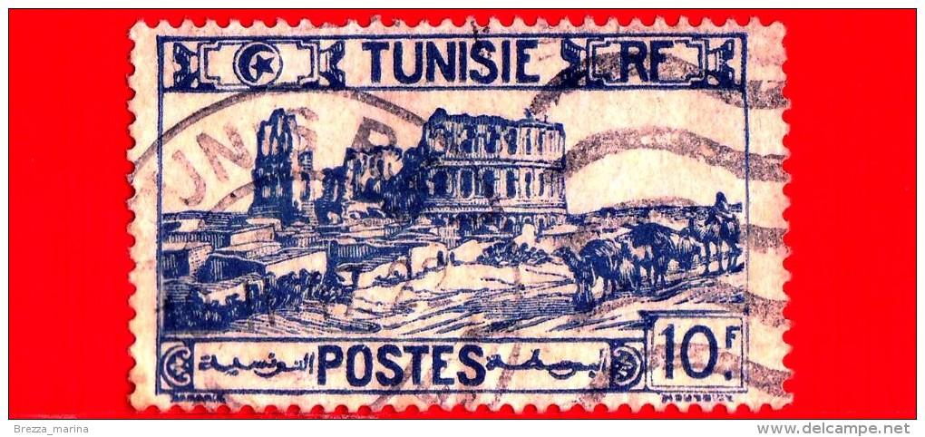 TUNISIA - Usato - 1945 - Rovine Dell'anfiteatro Di El Jem - 10 - Oblitérés
