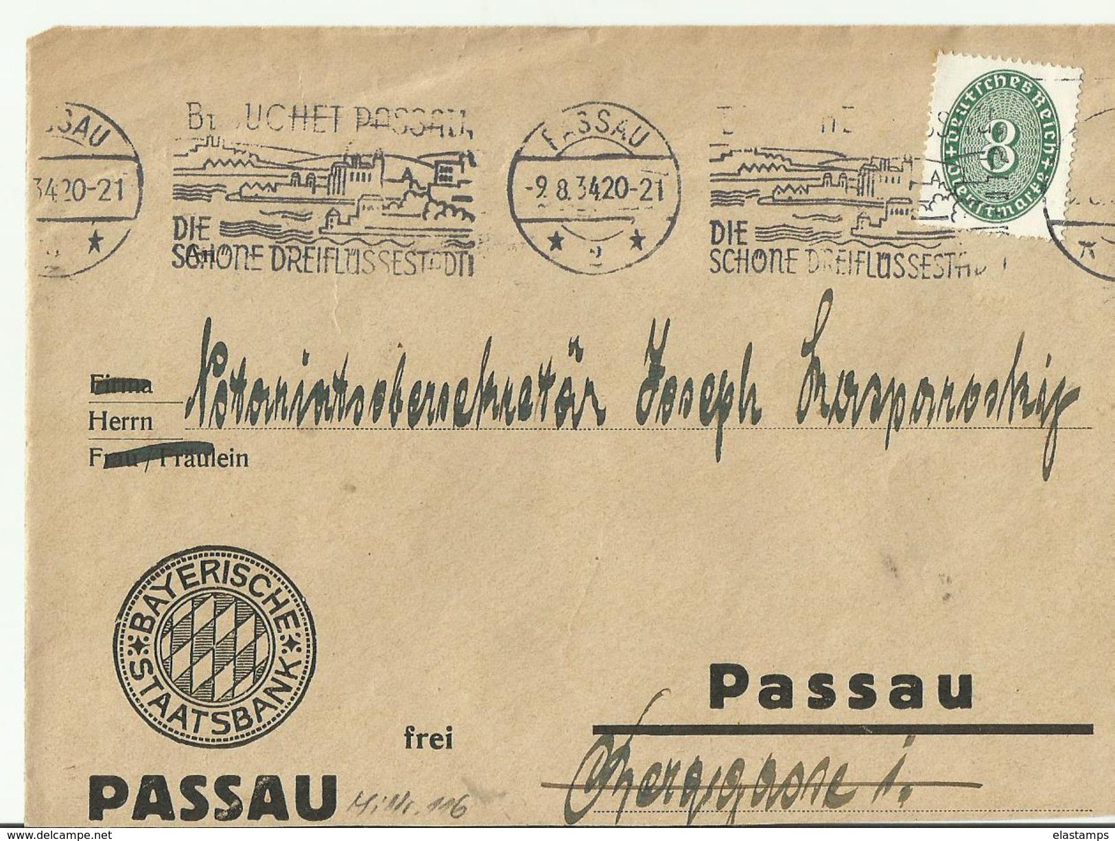 DR CV ONLY FRONT 1934 PASSAU SST - Briefe U. Dokumente