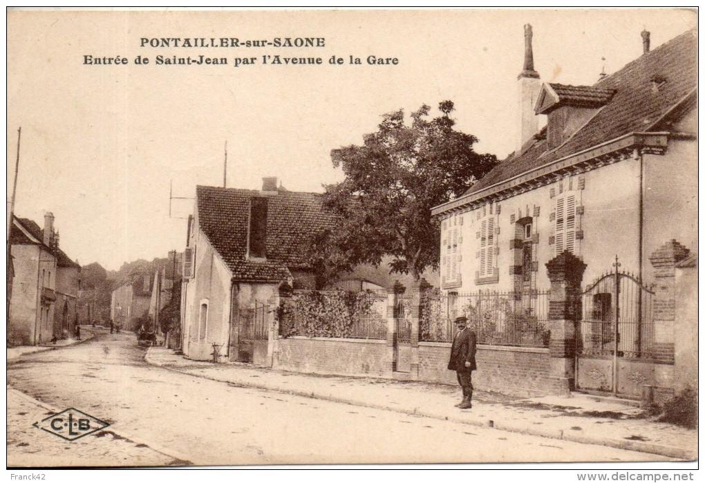 21. Pontailler Sur Saone. Entrée De Saint Jean Par L'avenue De La Gare - France