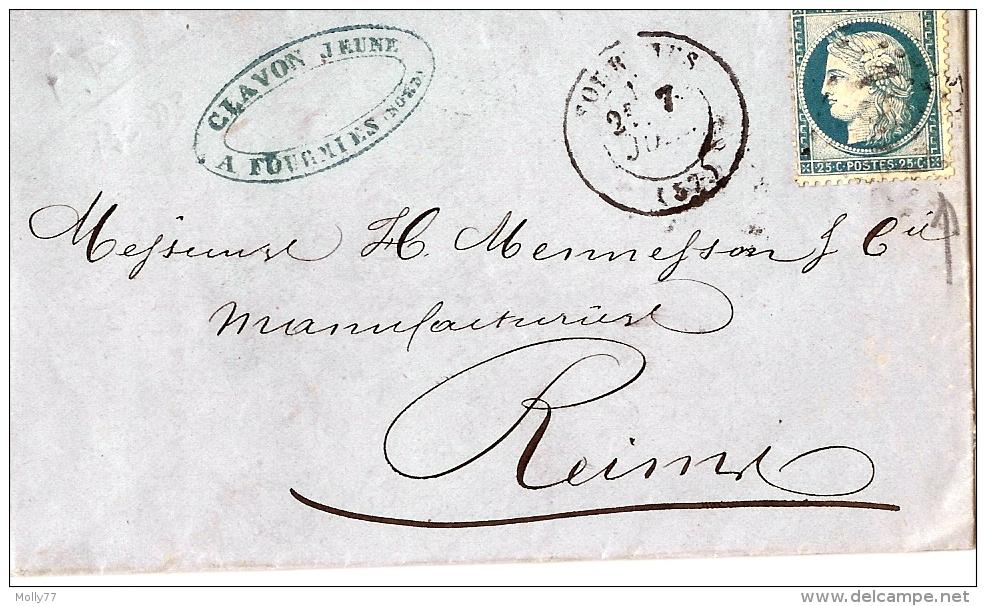 Lettre De Fourmies à Reims - Marcofilia (sobres)