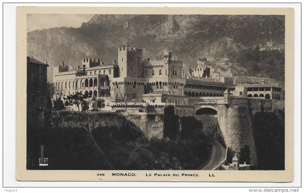 MONACO - N° 346 - LE PALAIS DU PRINCE - CPA NON VOYAGEE - Prince's Palace