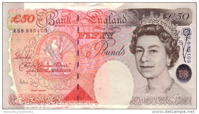 GREAT BRITAIN 50 POUNDS 1994 (2006) P-388c AU+  [GB388c] - 1952-… : Elizabeth II
