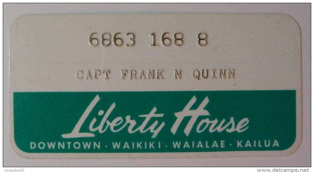 USA - Hawaii - Honolulu - Early Merchant Credit Card - Liberty House - Used - Geldkarten (Ablauf Min. 10 Jahre)