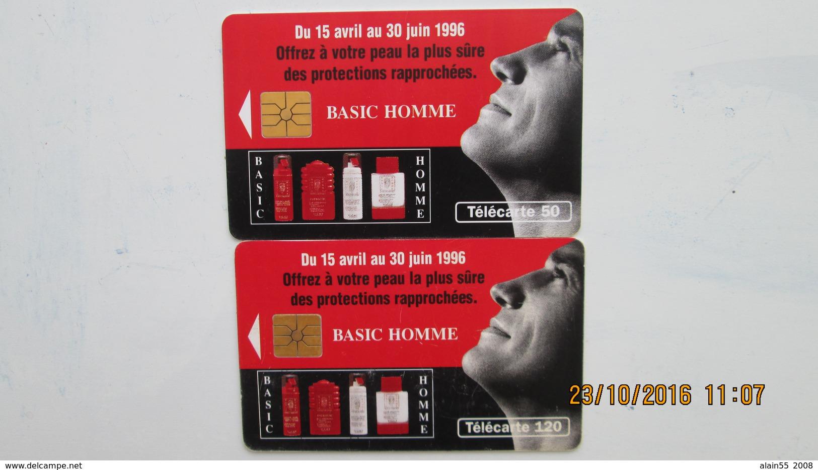 2 TELECARTES BASIC HOMME - Parfum