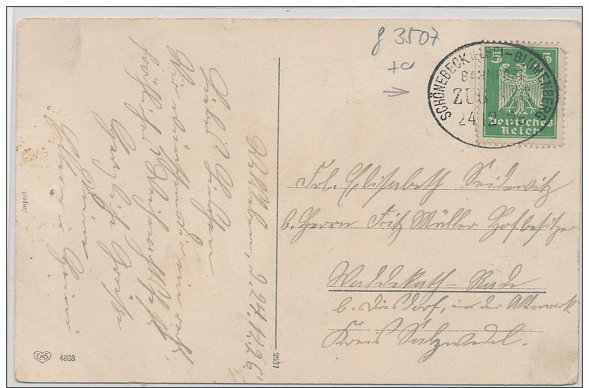Bahnpost-Stempel Beleg    ( G3507 ) Siehe Foto - Briefe U. Dokumente