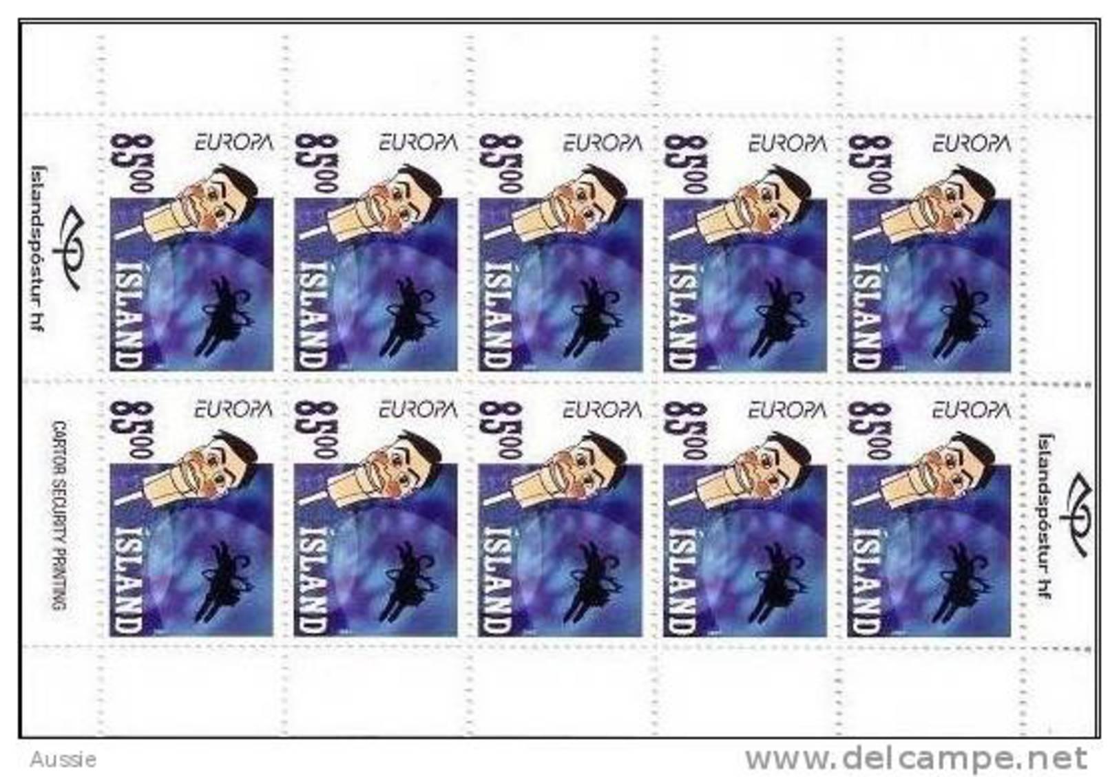 Cept 2002 Islande Iceland Ijsland Yvertn° C938 *** MNH Carnet Cote 35,00 Euro - Booklets