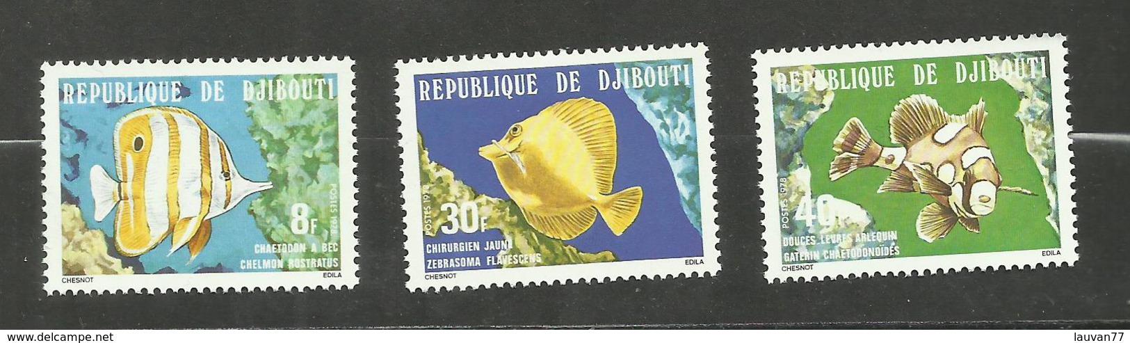 Djibouti N°488 à 490 Neufs** Cote 3.05 Euros - Yibuti (1977-...)