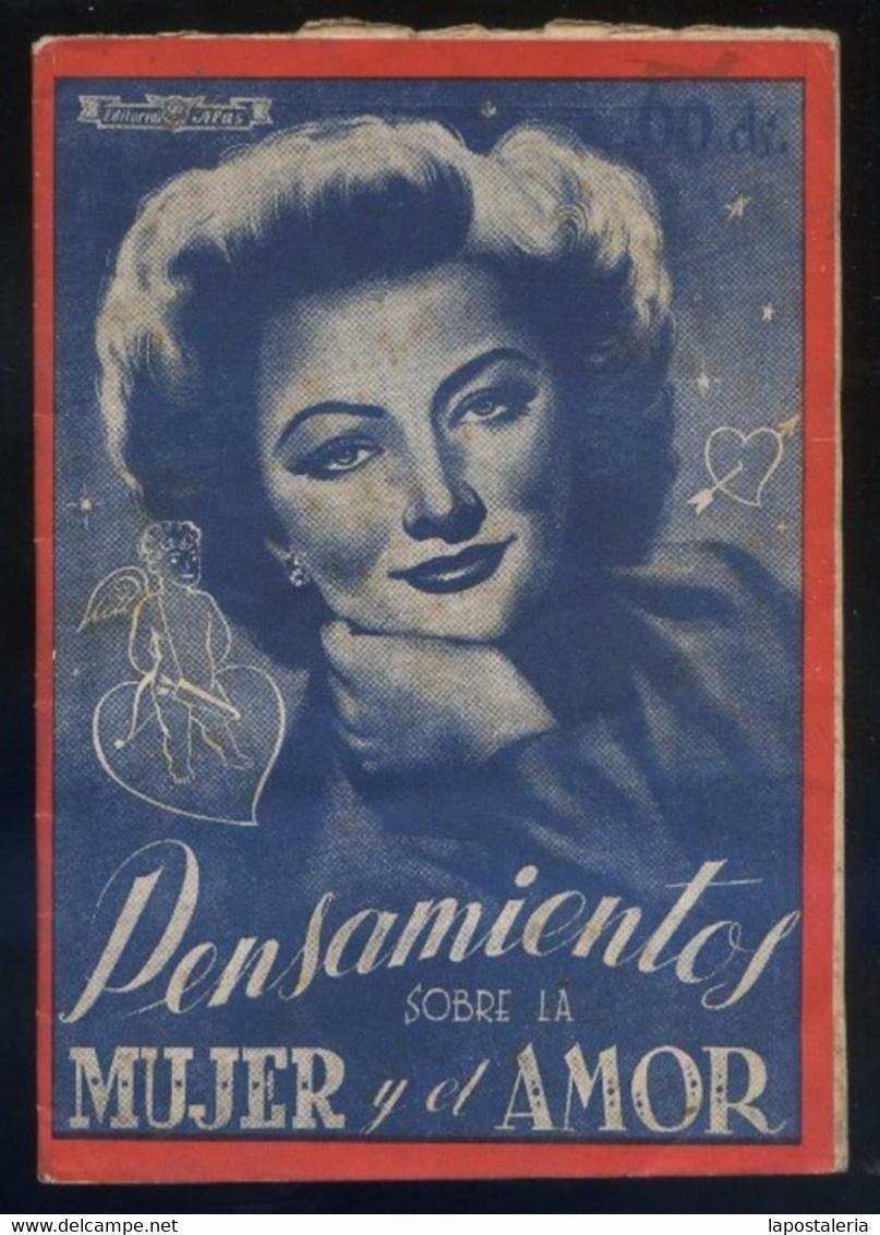 *Pensamientos Sobre La Mujer Y El Amor* Ed. Alas. 32 Pags. Meds.: 110 X 155 Mms. - Documentos Antiguos