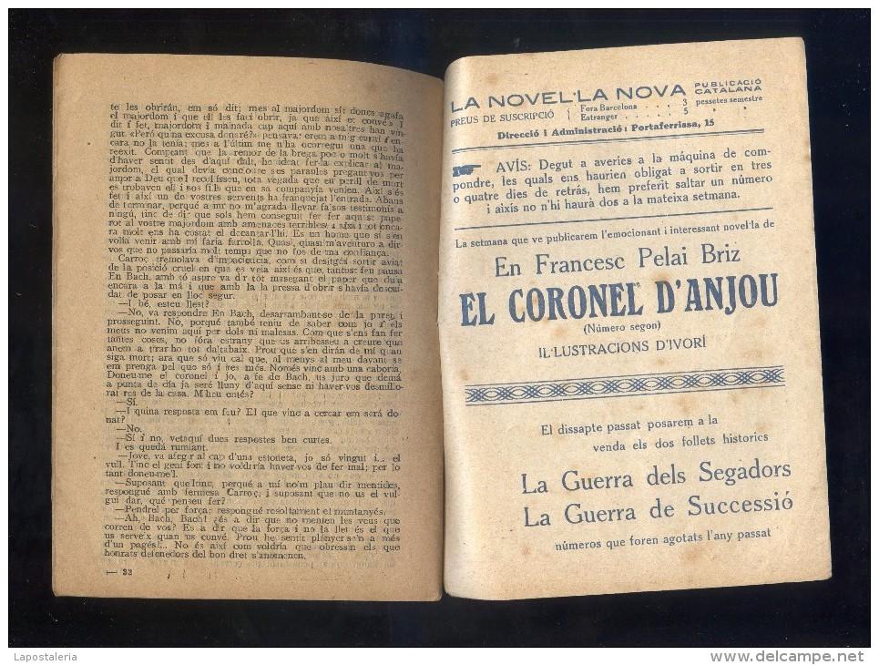 *El Coronel D'Anjou* Ed. La Novel.la Nova Nº 70. 32 Pags. Meds.: 132 X 185 Mms. - Documentos Antiguos