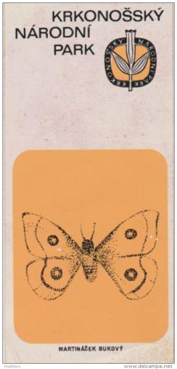 Czech Republic - Krkonose - Gian Mountains - Aglia Tau - Tau Emperor - Butterfly - Sticker - Advertising