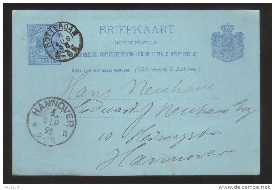 7636- Nederland , Post Card Briefkaart To Germany - Postal Stationery