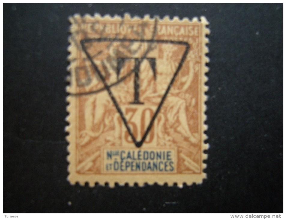 N-LLE CALEDONIE - 1894/900, Fournier Tres Rare, TAXE, Cent. 30 Oblit., N. 6, TTB - Ungebraucht