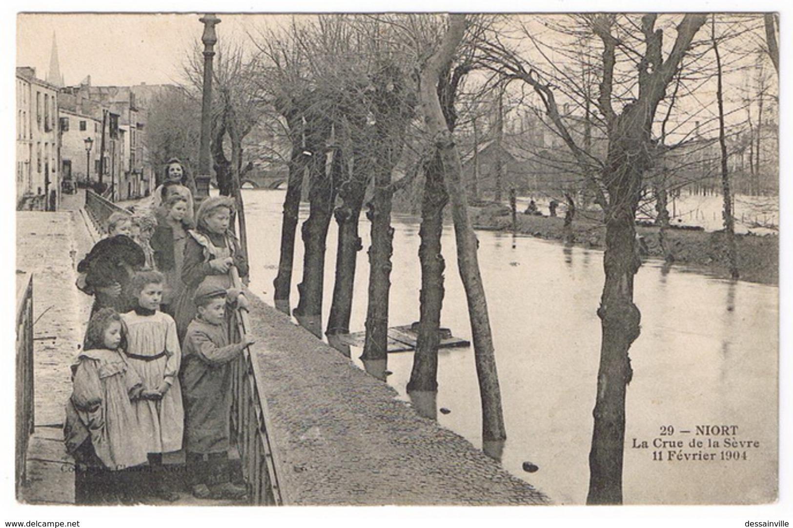 NIORT  La Crue De La Sèvre 11 Février 1904 - Niort