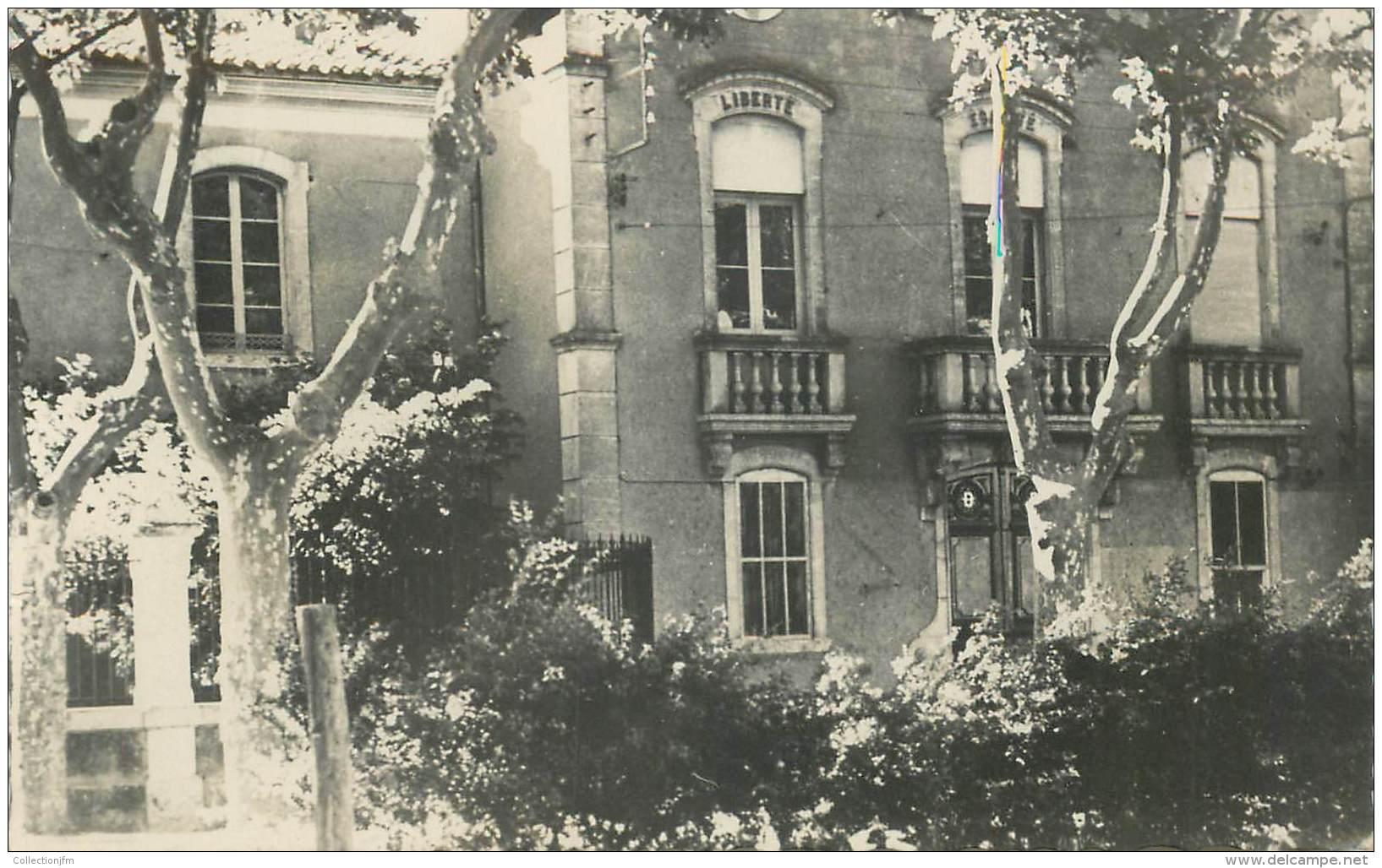 """CPSM FRANCE 11 """"Boutenac, Mairie Et Groupe Scolaire"""" - Autres Communes"""