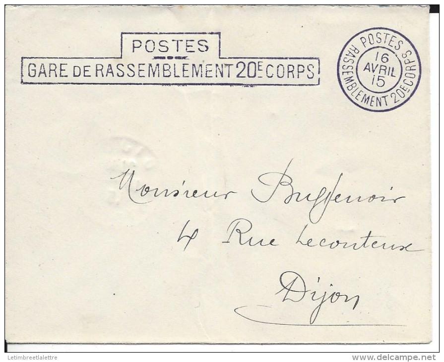 Poste, Gare De Rasseblement 20éme Corps - 1877-1920: Période Semi Moderne