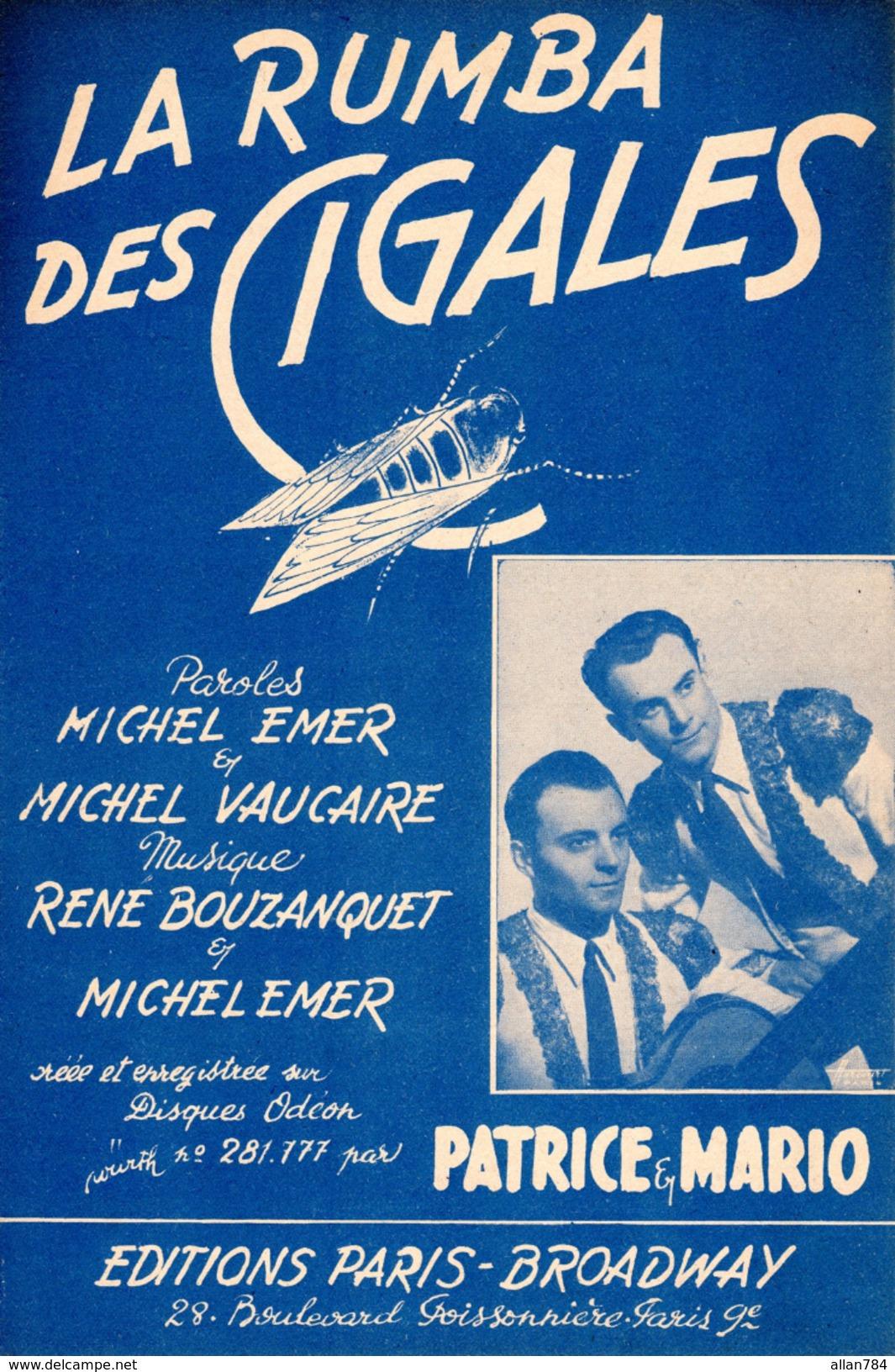 1938 - PROVENCE - PARTITION LA RUMBA DES CIGALES - VAUCAIRE EMER PATRICE ET MARIO - EXC ETAT COMME NEUVE - - Autres