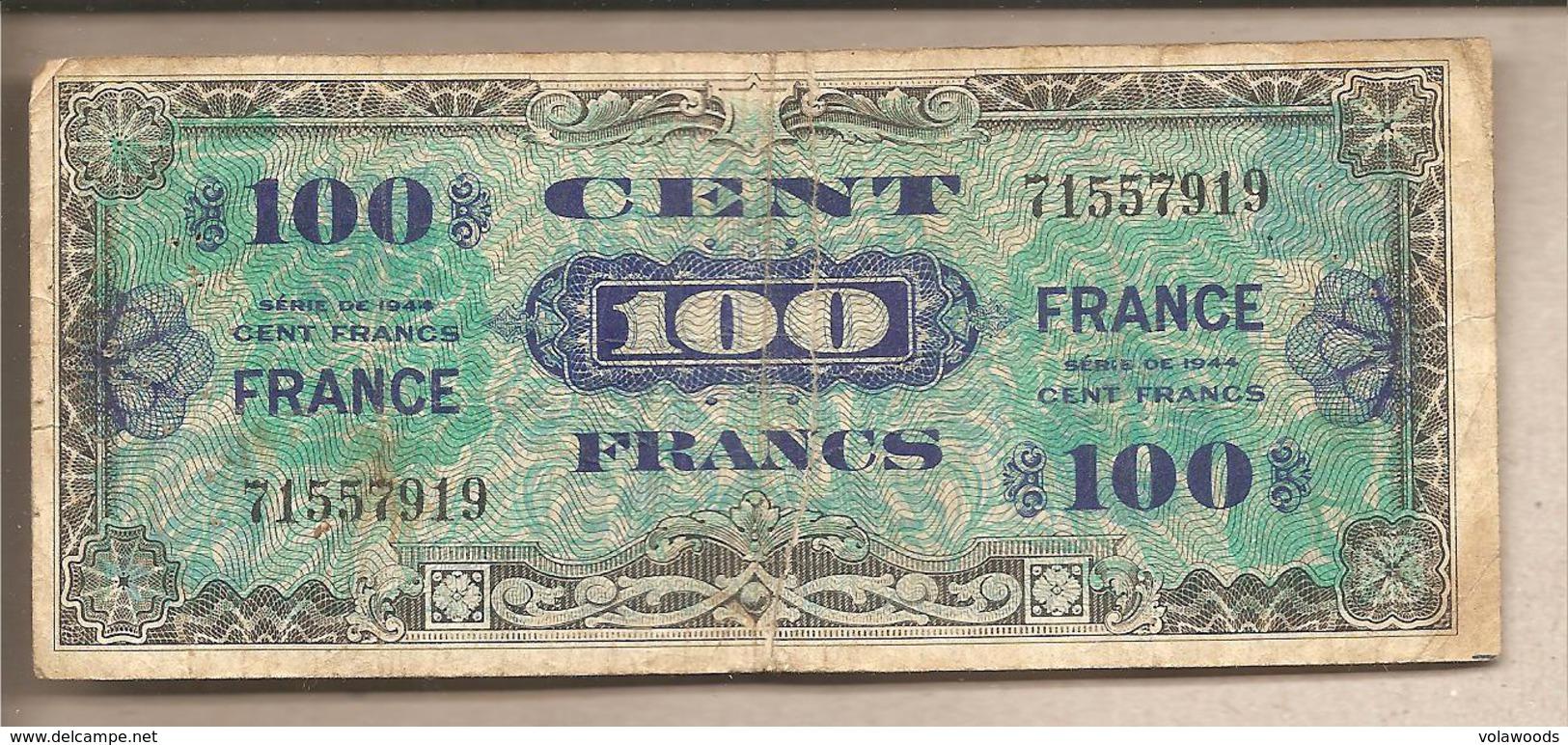Francia - Banconota Circolata Da 100 Franchi - 1944 - 1871-1952 Antichi Franchi Circolanti Nel XX Secolo