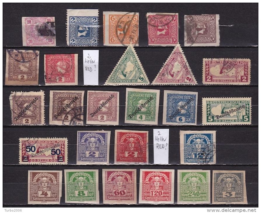 Osterreich / Austria 1899-1920 Zeitungsmarken Newspaper Stamps 25 Different MH / Used Michel Between 100 - 311 - Dagbladen