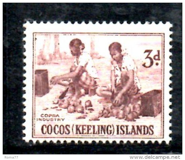 T1095 - COCOS ,  Yvert N. 1  * - Isole Cocos (Keeling)