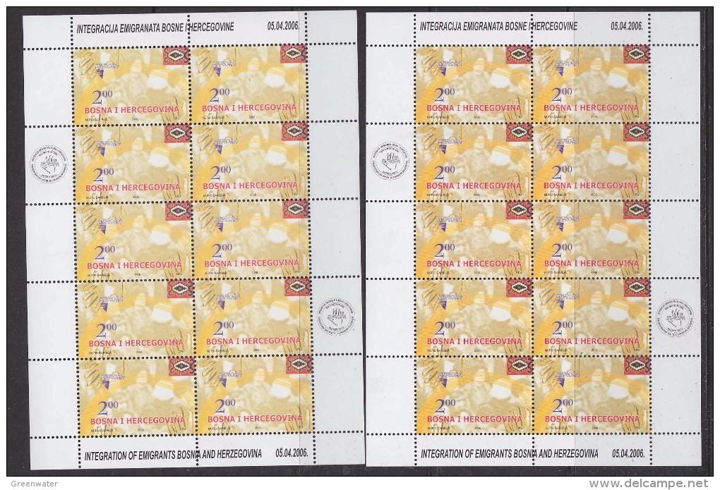 Europa Cept 2006 Bosnia/Herzegovina Sarajevo 1v  2 Sheetlets ** Mnh (33078) 2 Diff. Printings - Europa-CEPT