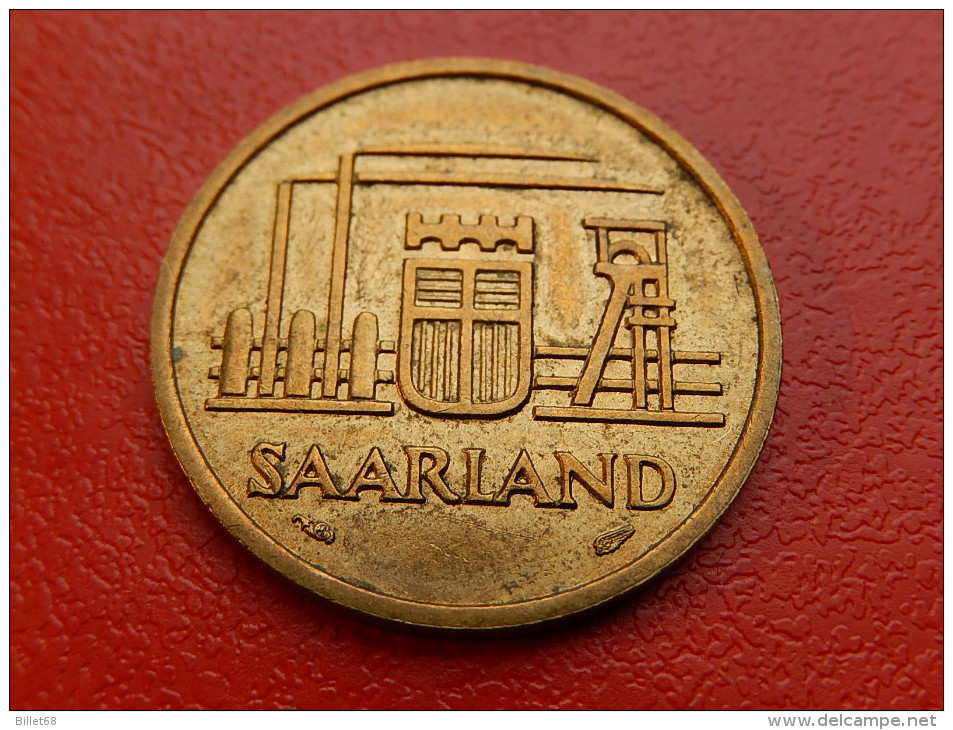 Piece De SAARLAND SARRE -  20 FRANKEN 1954 - Saar
