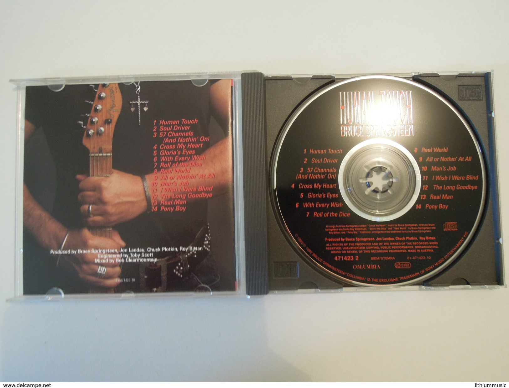 Bruce Springsteen  -  Human Touch - Columbia Col 471423 2 Austria - Country & Folk