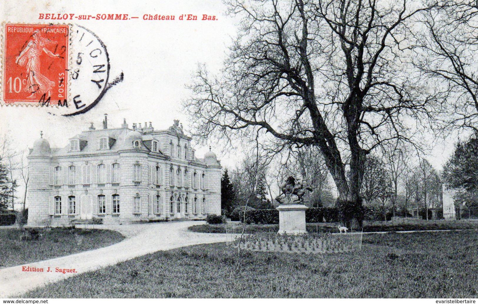 BELLOY -SUR-SOMME : Château D'en Bas - France