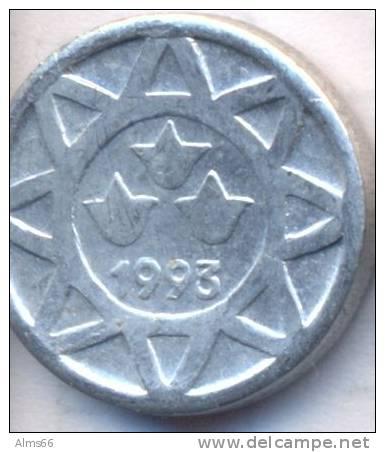 Azerbaijan 1993 5 Qapik XF Coin Aluminum KM#1a - Azerbaïdjan