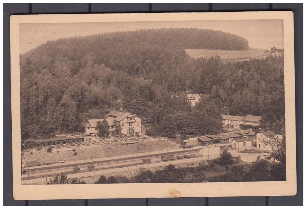 AK  Rentzschmühle ,    Hotel  Steinicht ,   Bahnhof        Gelaufen  1926 - Deutschland