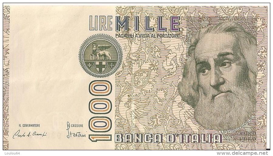 1000 Lire 1982 - Marco PAULO - N° CC 938489 O  - ITALIE - - [ 2] 1946-… : République